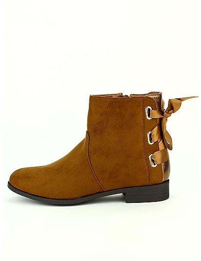 Cendriyon, Bottine Caramel Simili Daim Dolce Chaussures Femme Taille ... 93d82a6ce73f
