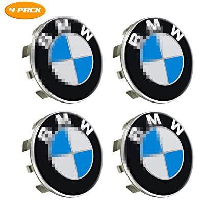 Wikkiv BMW Wheel Center Caps Emblem, 68mm Standard BMW Rim Center Hub Caps for All Models with BMW Wheels Logo Blue & White Color (4 Pack): Automotive