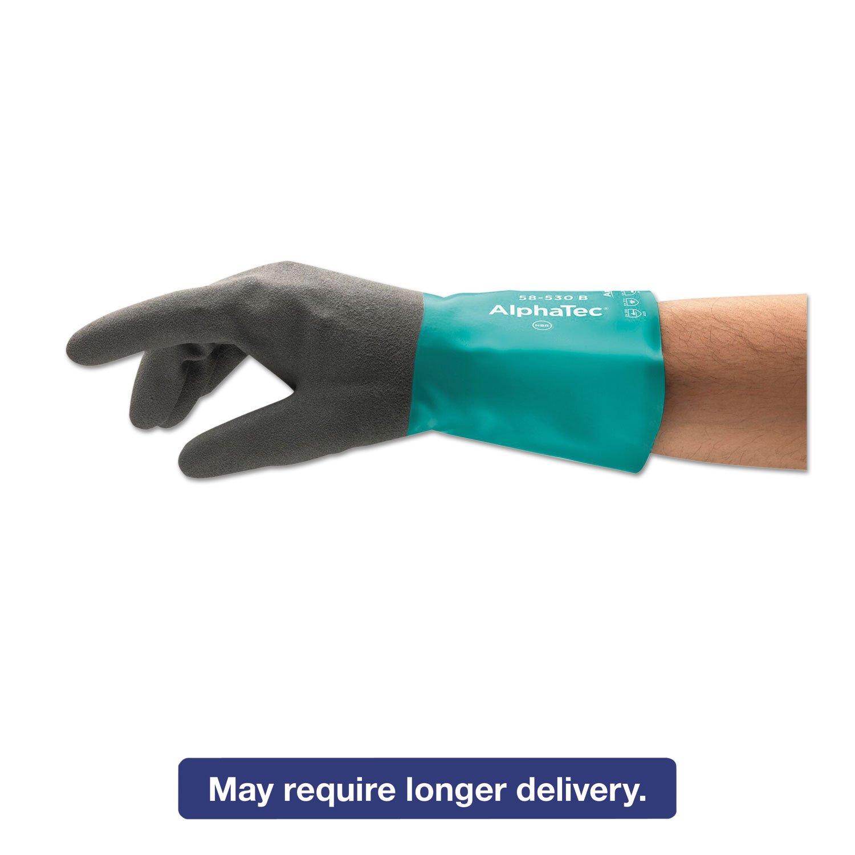 Capacity Standard Ansell 123821 Alphatec Textured Finish Nitrile Glove 9 Volume Green