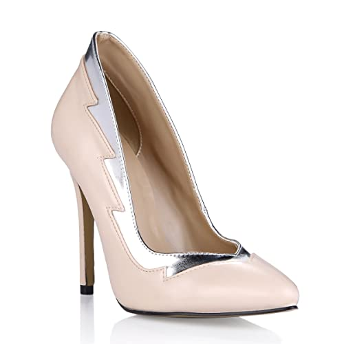 25d8756fe91 Women s High Fashion Nude Evening Party Dress Casual Elegant Slim Fit Thin  Heels Steady Step Cusp