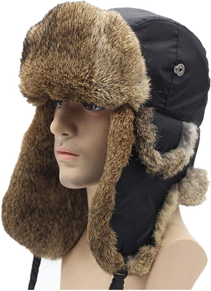 YOUTH SHEARLING GENUINE SHEEPSKIN HAT BEANIE FOR KIDS VERY WARM AND WINDPROOF