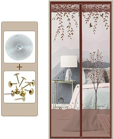 DCMIN Cortina Mosquitera para Puertas Puerta De Pantalla Magnética Imanes, Adhesiva Cierre AutomáTico Fácil de Ensamblar Silencioso para Puerta del Balcón: Amazon.es: Hogar