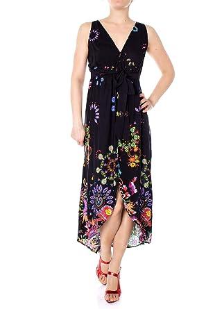 94443b74ad9d Desigual Vestito Lungo Donna Vest Magda 19SWMW08 m Nero  Amazon.it   Abbigliamento