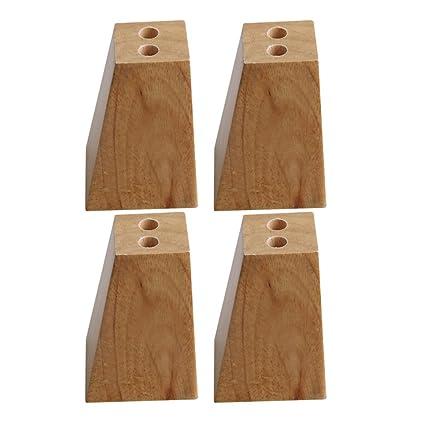 Yibuy 4 Patas de Madera Maciza para sofá o Muebles, Diseño de trapezoide