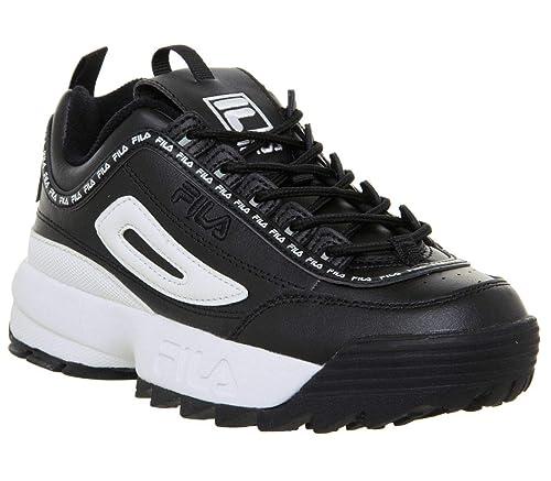 Fila Disruptor II Premium Repeat Nero Donna Sneaker: Amazon ...