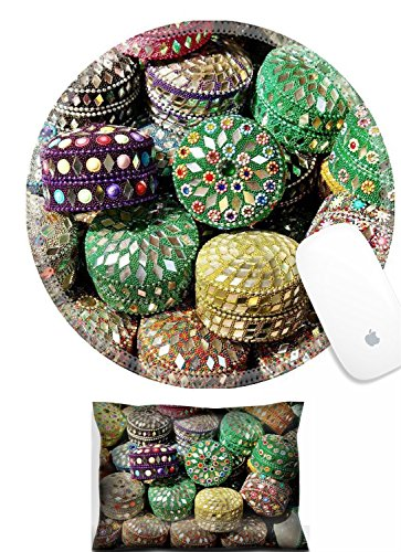 Luxlady Mouse Wrist Rest and Round Mousepad Set, 2pc Big amount of bright orient jewelry boxes IMAGE: (Best Luxlady Jewelry Boxes)