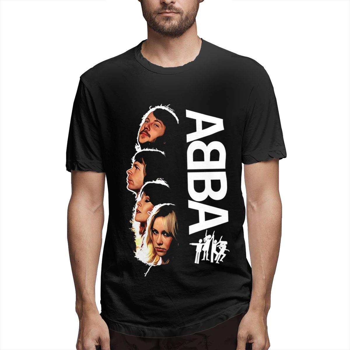 Abba-4 Camiseta Casual de Manga Corta para Hombre Traje de Verano ...