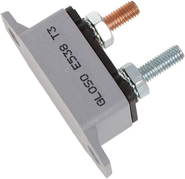 Manual Reset GLOSO E538 Stud Type Circuit Breakers Lengthwise Bracket 20A - 1 Pack T3