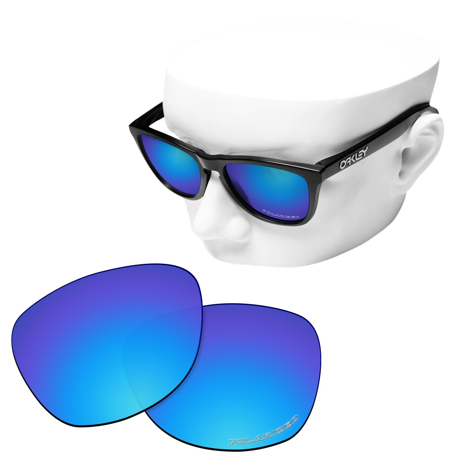 OOWLIT Replacement Sunglass Lenses for Oakley Frogskins Ice Polycarbonate Combine8 Polarized