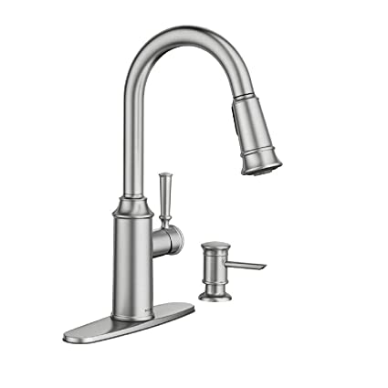 Moen 87731SRS Glenshire Spot resist Stainless one-handle High Arc pulldown  Kitchen Faucet