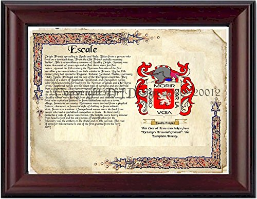 - Escale Coat of Arms/ Family Crest on Fine Paper and Family History