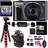 Canon PowerShot SX720 HS (Black) Camera, Camera Case, 16GB UHS, Memory Card Wallet, Tripod, Cleaning Kit, Card Reader / Writer, Screen Protector & DigitalAndMore Accessory Bundle