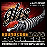 "GHS Strings GHS Round Core Bass Boomers, 4-String Set, Medium Gauge (37.25"" winding) (RC-M3045)"
