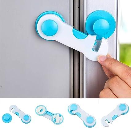 5 cerraduras de seguridad para bebé, armarios, nevera, cajones, cerraduras de seguridad