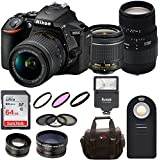 Nikon D5600 DSLR Camera with 18-55mm VR lens and Sigma 70-300mm Macro Lens + 64GB Card + Filter Kit + Wide and Telephoto Lens + Bundle