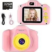 Cámara para Niños Infantil Cámara de Fotos Digital Cámara Juguete para Niños 2 Pulgadas 12MP 1080P HD Selfie Video…