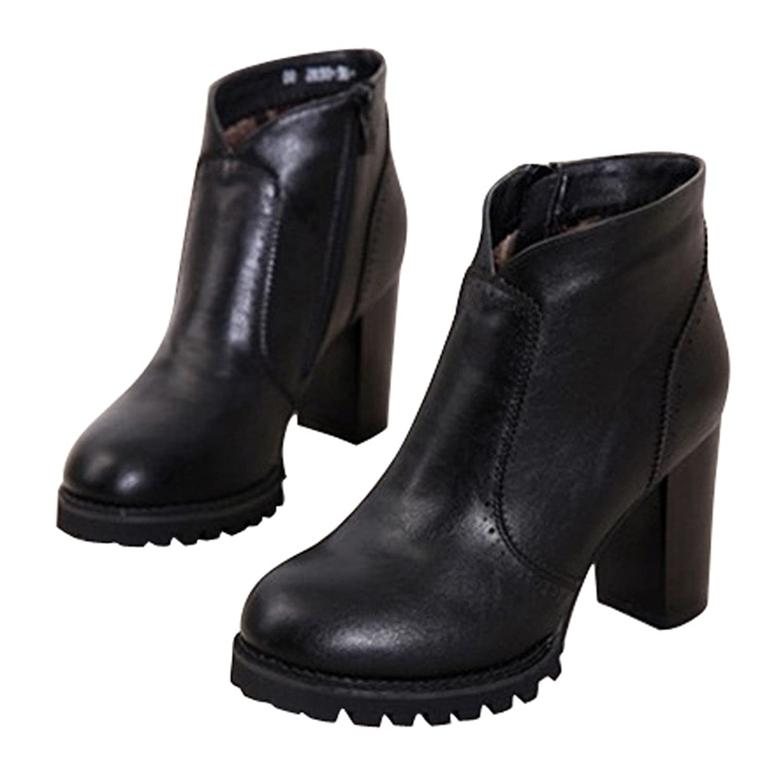 Dear Time Women Zipper High Heels Ankle Boots