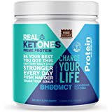 Real Ketones Keto Meal Replacement Shake (Fudge Brownie) Whey Isolate Protein with BHB and MCT Powders to Promote Muscle…