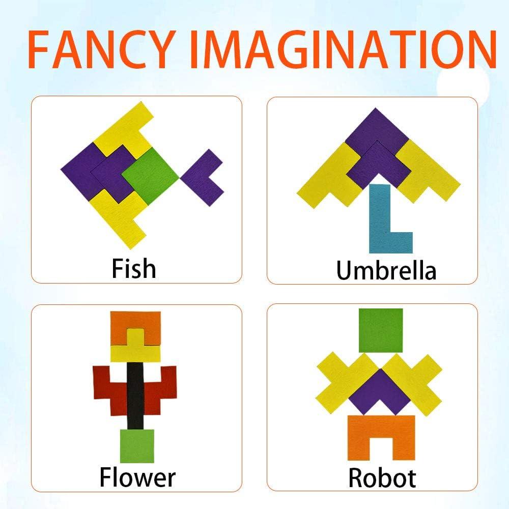 SOKY H/ölzerner Tetris Puzzle-Spielzeug/&Geschenk f/ür Kinder