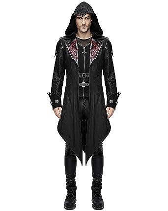 Devil Devil Herren Fashion GrMediumSchwarz Devil Herren Fashion Mantel Mantel GrMediumSchwarz A34LR5j