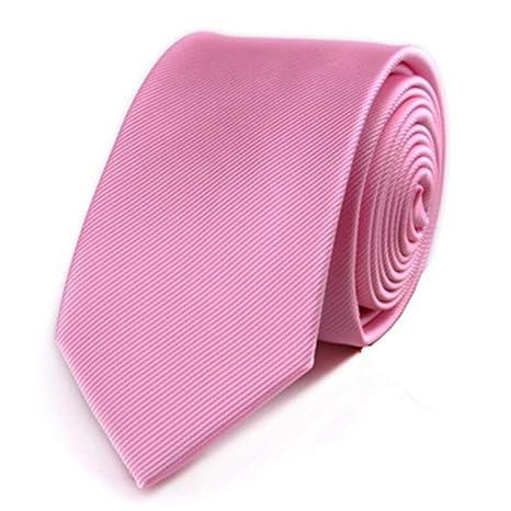 COLILI Corbata Delgada Poliéster Corbatas Lisas para Hombres Traje ...