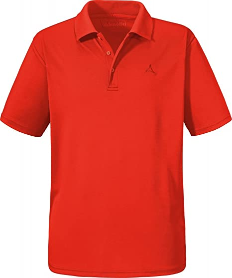 Schöffel Polo Camiseta Polo Camiseta leuven1 Color Fiery Red ...