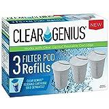 Clear Genius Filter Pod Refills (Pack-3) SR-3, Includes 3 Filter Pod Refills, Filter Pods Last For 2 Months