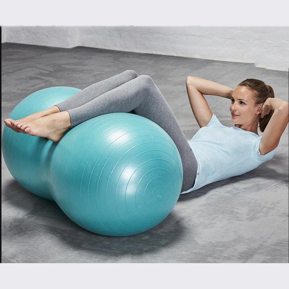 Wly&Home Blauer Yoga Ball Fitness Pilates Explosionsgeschützte Erdnuss Ball Sportbälle