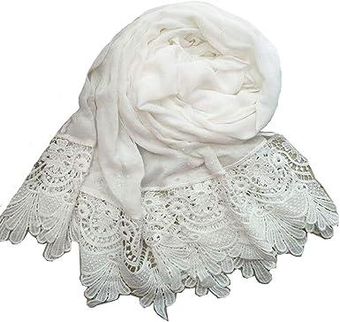Femmes écharpe écharpe Automne Hiver Echarpe pince couleur blanc//rouge