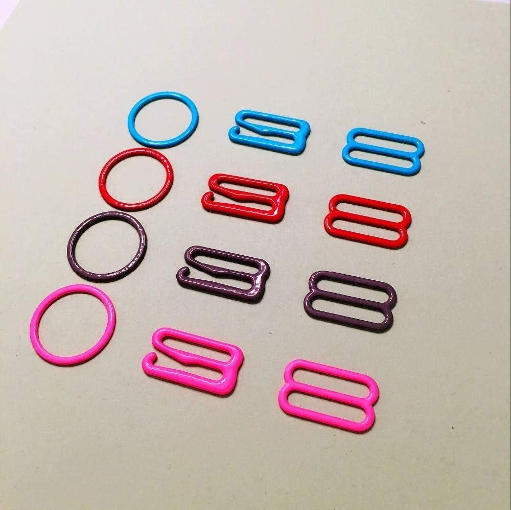 100 pcs Bra Hook Bow tie Cufflinks Hardware Necktie Hook tie Clips Fasteners to Make Adjustable Straps on Bow Tie Buckles dip Buckes Size: Hook, Color: red