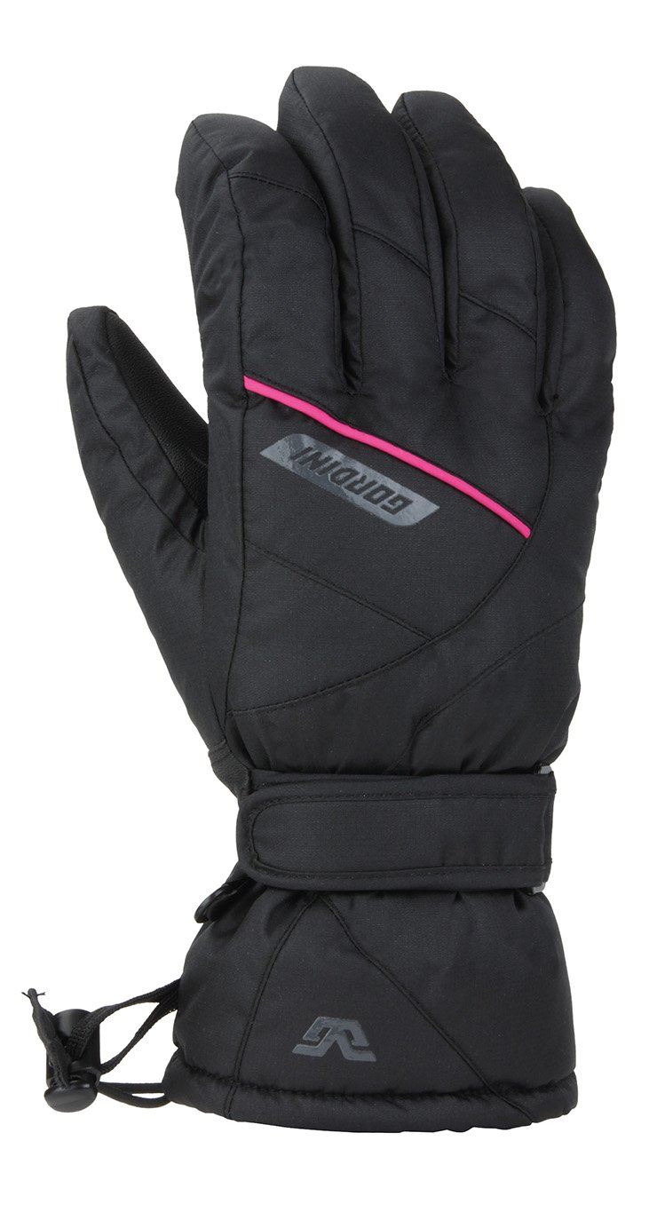 Gordini Womens Ultra Dri-max Gauntlet Gloves Black//Deep Pink Large 3G3039