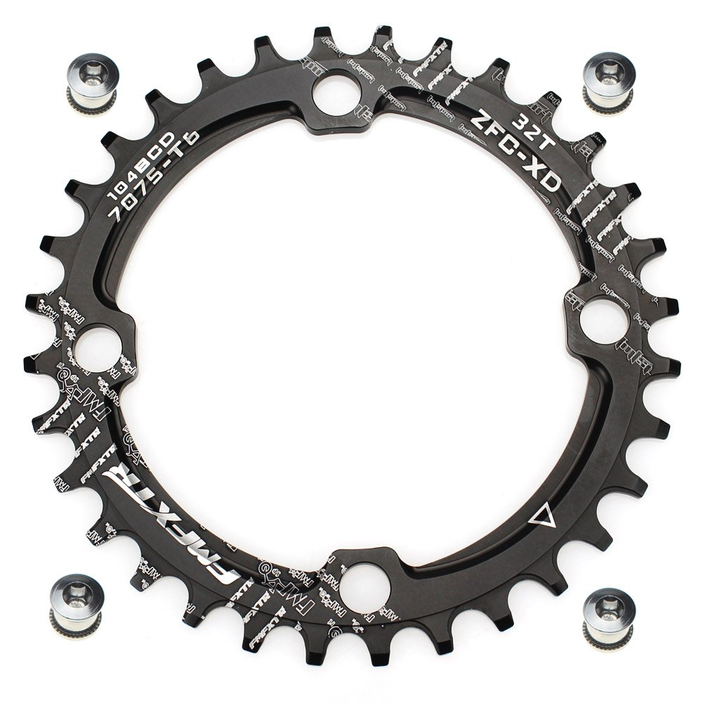FOMTOR 32T Narrow Wide Chainring 104 BCD Chainring for 9 10 11 Speed, Mountain Bike Road Bike BMX MTB Bike by FOMTOR