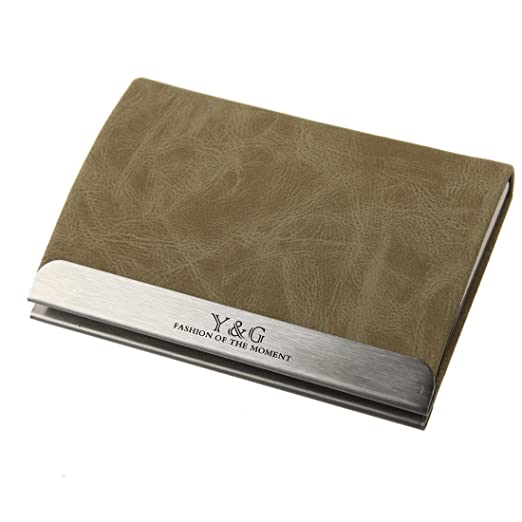 the latest 1b709 31e9b Y&G Men's Fashion Both sides Business Card Holder Card Case Available in  Different Colors