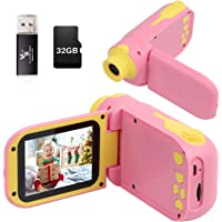 Kids Camera, Video Camera Camcorder for Kids Gifts, 1080P HD DV Digital Video Camera with 2.4inch Screen, 12MP Kids…