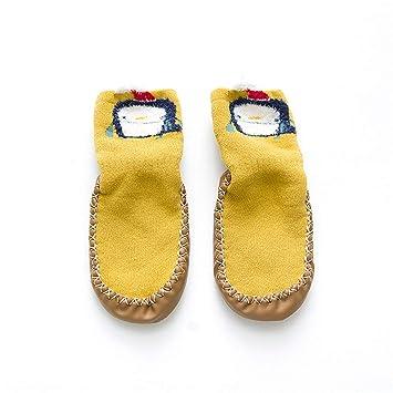 Calcetines para bebés, calcetines para el piso para bebés, calcetines antideslizantes suaves y transpirables para caminar Dibujos animados lindos para niños ...