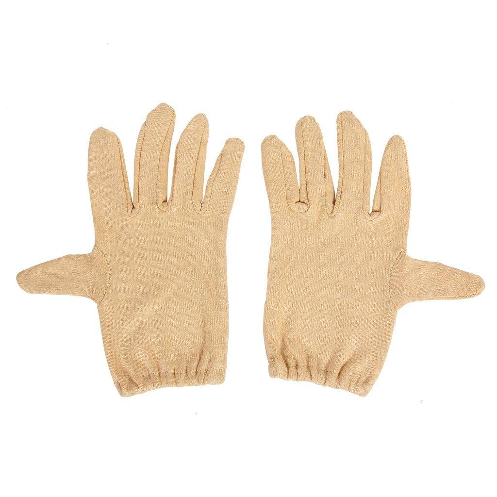 R.J.VON Brown Half Hand Gloves Cold & Sun Protective