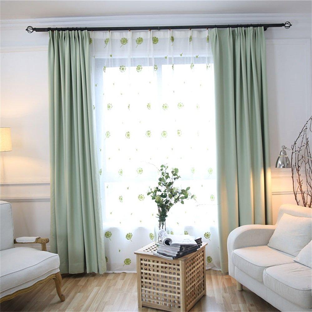 HOME UK- Ein Satz von 2 PC Verdickung Voll Schattierung Vorhang Moderne minimalistische Wohnzimmer Schlafzimmer Normallack Fertige Produkte ( farbe : Curtain And Yarn , größe : 3*2.7m )