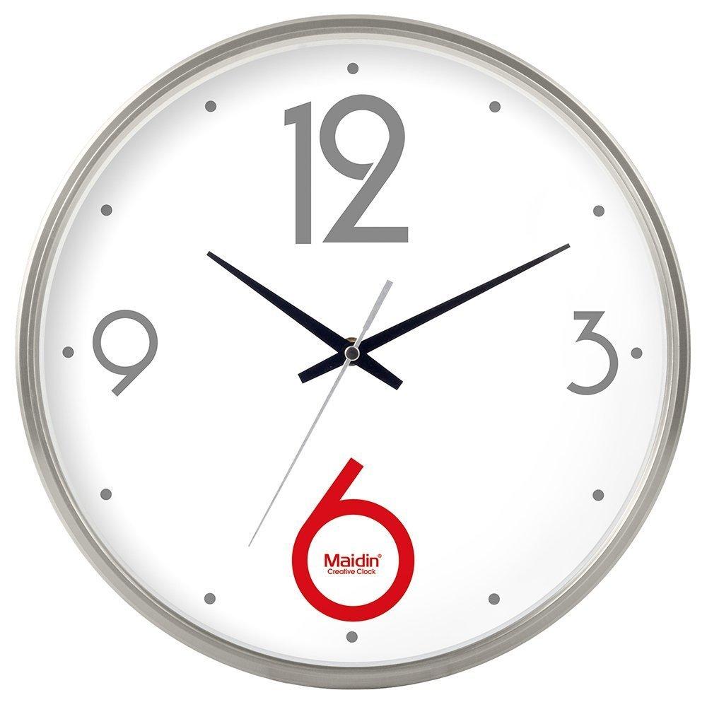 掛け時計 リビングルームのオフィスキッチンのためのモダンな壁時計大装飾ユニバーサルサイレント屋内クォーツラウンドウォールクロック (色 : シルバー しるば゜, サイズ さいず : 8 inch) B07DRMPLZ2 8 inch シルバー しるば゜ シルバー しるば゜ 8 inch