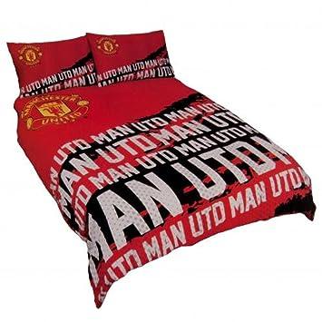 Manchester United Fc Offizielles Fussball Geschenk Doppel Bettwasche