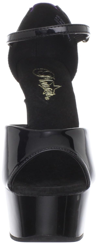 Pleaser Women's Delight-660FH Platform Sandal B0044CZ2NU 6 B(M) US|Black Purple Patent/Black