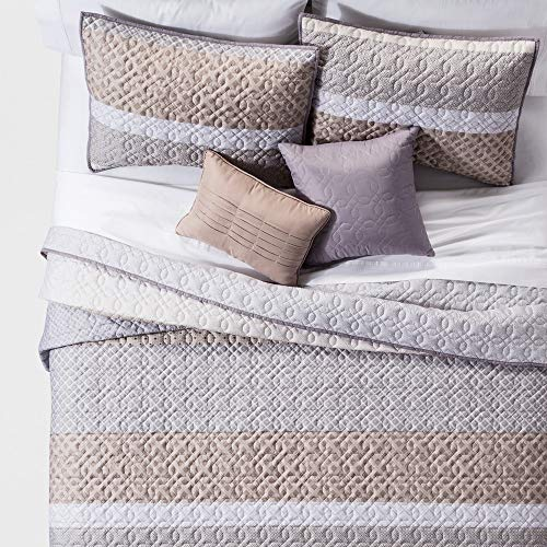 Global Stripe - Unbranded Neutral Henry Global Stripe Quilt Set 5pc - King