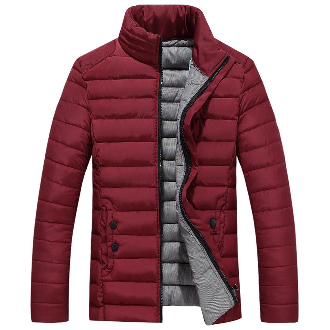 SiDiOU Group Mens Down Puffer Jacket Winter Warm Down Padded Jacket Coats