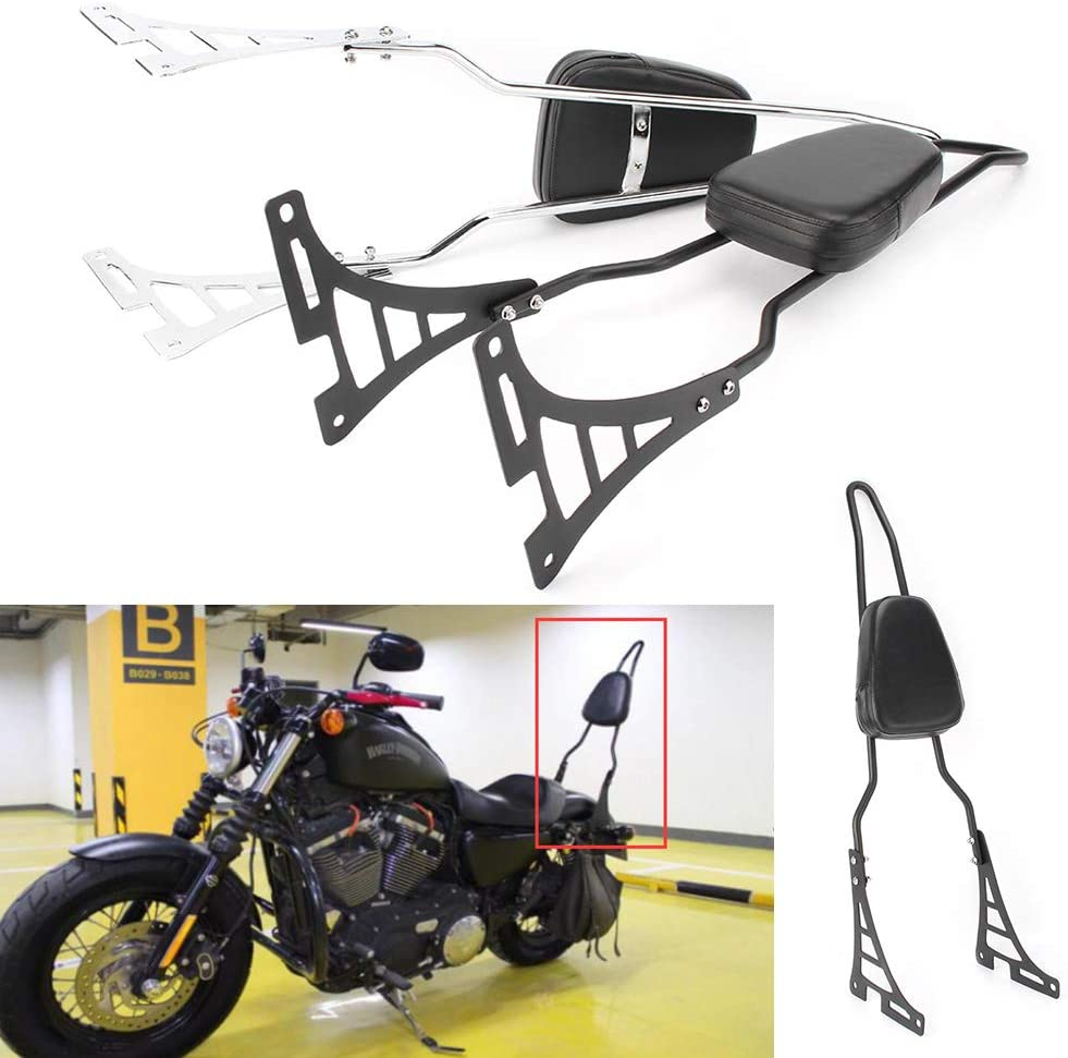 D DOLITY Motorcycle Sissy Bar Backrest Cushion Pad Replacement for Harley Sportster XL 883 1200 2004-2018 Touring Models