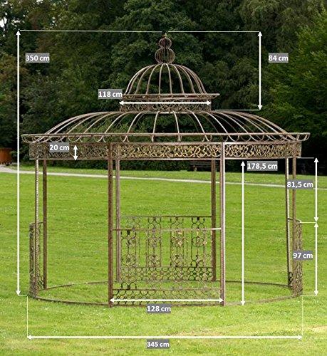 Amazon.de: CLP Pavillon ROMANTIK aus pulverbeschichtetem Eisen I ...