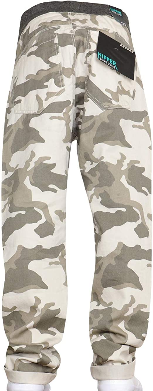 New Boys Kids Camo Designer Pull-On Elasticated Waist Jogger Camoflauge Jeans Pants by JEANBASE