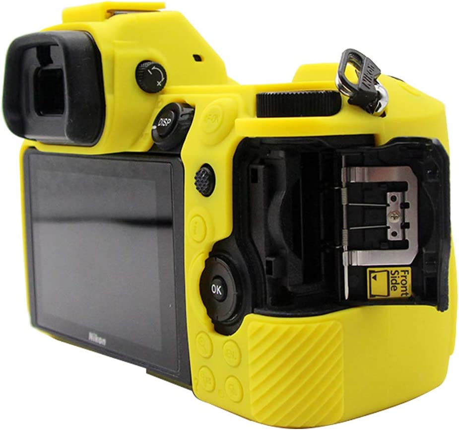 Red Soft Silicone Armor Skin Rubber Protective Camera Case Compatible with Nikon Z7 Z6