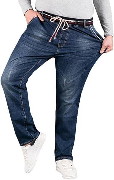 Xinwcang Vaqueros Hombre Slim Fit Stretch Jeans Moderno y Casual Tramo Denim Pantalones Biker Pantalón Ajustado Recto