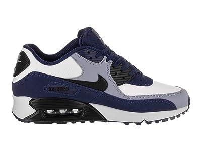 Nike Men's Air Max 90 Leather Blue VoidBlackAshen Slate Running Shoe 8.5 Men US