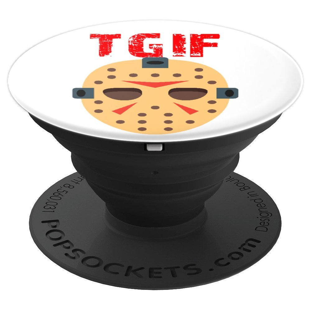 TGIF Funny Thank God It's Friday Scary Halloween - PopSockets Grip and Stand for Phones and Tablets