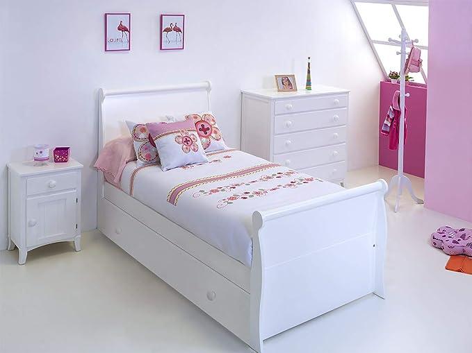 Cama Nido Diana (Colchón 105 x 200, Blanco)